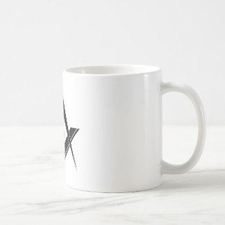 Caneca De Café Quadrado e compasso modernos