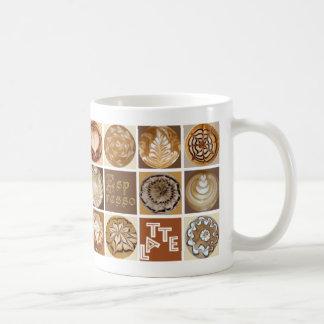 Caneca De Café Quadrados da arte de Latte