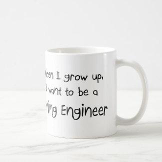 Caneca De Café Quando eu me cresço acima queira ser um engenheiro