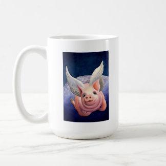 Caneca De Café Quando os porcos voarem!
