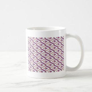 Caneca De Café quartzo cor-de-rosa da geometria 3d