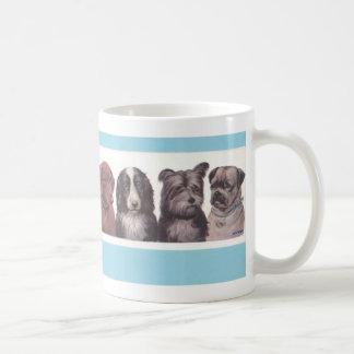 Caneca De Café Quatro filhotes de cachorro