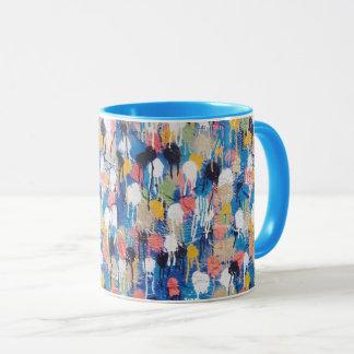 Caneca de café que caracteriza a arte original da