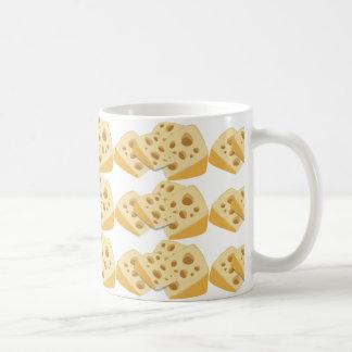 Caneca De Café Queijo suíço engraçado do gourmet