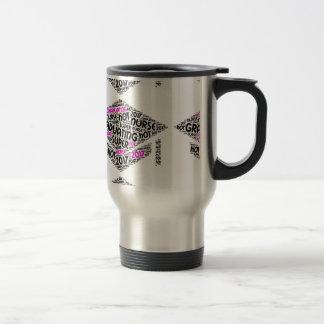 Caneca de café quente de graduação da enfermeira