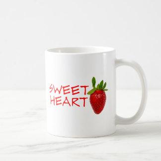 Caneca De Café Querido da morango