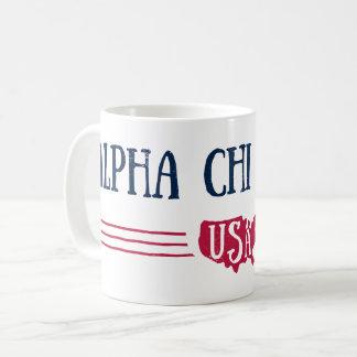 Caneca De Café Qui alfa Omega - EUA