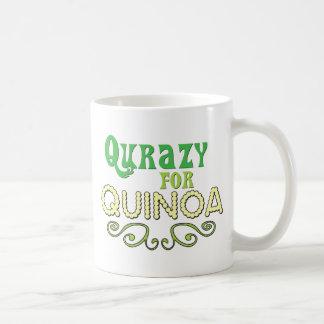 Caneca De Café Qurazy para o © do Quinoa - slogan engraçado do