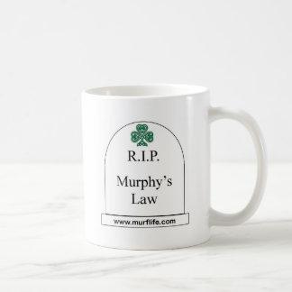 Caneca De Café R.I.P. A lei de Murphy