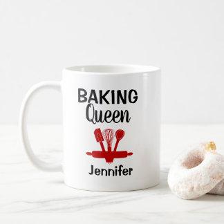 Caneca De Café Rainha de cozimento personalizada engraçada