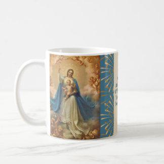 Caneca De Café Rainha de Mary de anjos de Jesus do céu