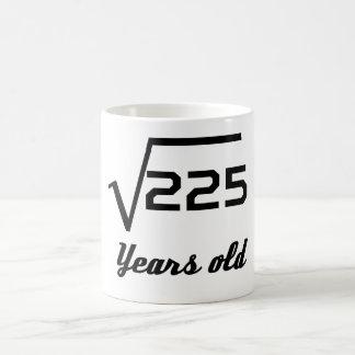 Caneca De Café Raiz quadrada de 225 15 anos velho