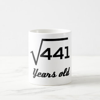Caneca De Café Raiz quadrada de 441 21 anos velho