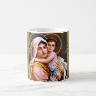 Caneca De Café Ramo de Jesus do bebê de Mary da mãe do Virgin