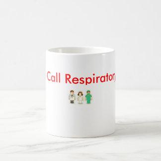 Caneca De Café Rapidamente! STAT respiratório da chamada!