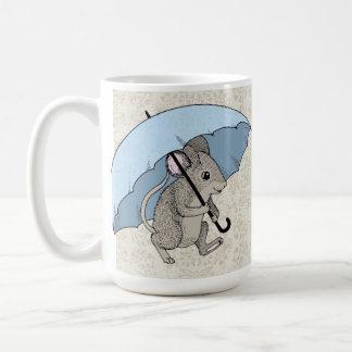 Caneca De Café Rato do dia chuvoso