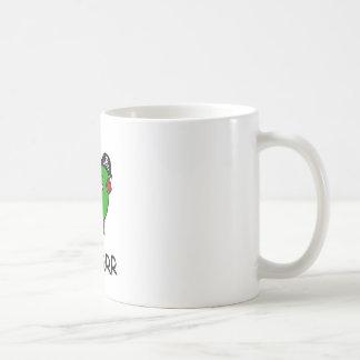 Caneca De Café RAWR é dinossauro para ARRR (o dinossauro do