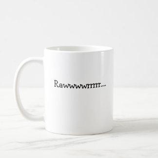 Caneca De Café Rawwwwrrrrr…., Meios eu te amo no dinossauro