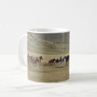 Caneca De Café Rebanho dos cavalos