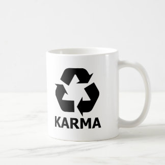 Caneca De Café Reciclar das karmas