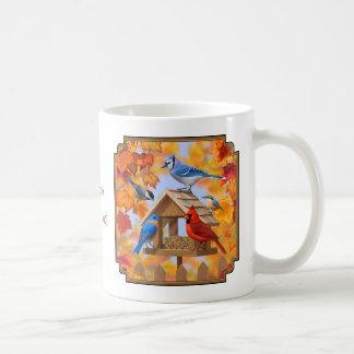Caneca De Café Recolhimento do alimentador do pássaro do outono