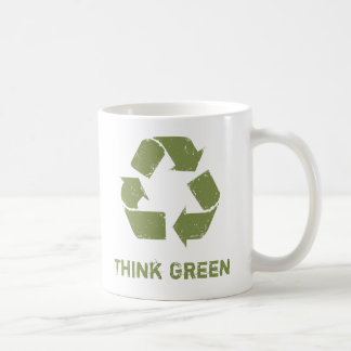 Caneca De Café RecycleLogo, pense verde