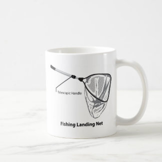 Caneca De Café Rede de aterragem para pescar a ilustração marcada