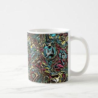 Caneca De Café Reflexão distorcida das cores
