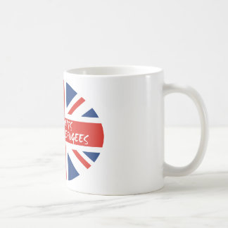 Caneca De Café Refugiados bem-vindos dos Británico reais