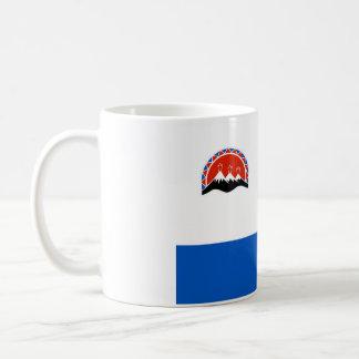 Caneca De Café região da república do país de Rússia da bandeira