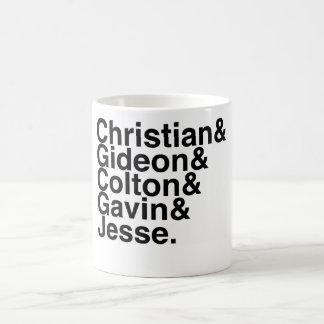 Caneca De Café Registre o noivo Gideon cristão, Colton, Gavin…