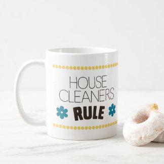 Caneca De Café Regra dos líquidos de limpeza da casa