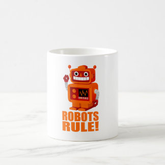 Caneca De Café Regra dos robôs