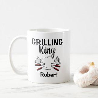 Caneca De Café Rei de cozimento na grelha personalizado engraçado