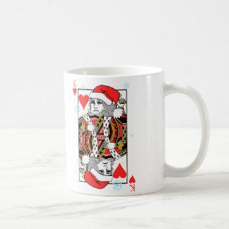 Caneca De Café Rei do Feliz Natal dos corações