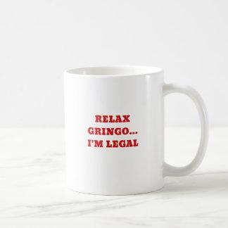 Caneca De Café Relaxe o Gringo Im legal