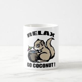 Caneca De Café Relaxe! Vai o coco
