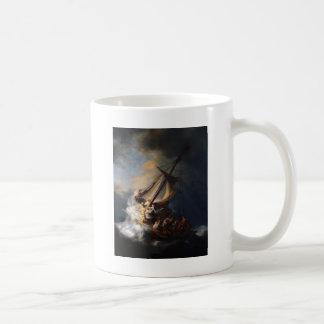 Caneca De Café Rembrandt a tempestade no mar de Galilee