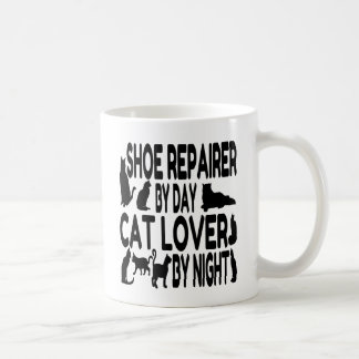 Caneca De Café Reparador de calçados do amante do gato