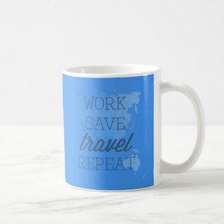 Caneca De Café Repetição do viagem das economias do trabalho