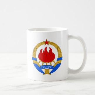Caneca De Café República federal socialista do emblema de
