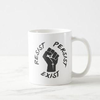Caneca De Café Resista persistem existem