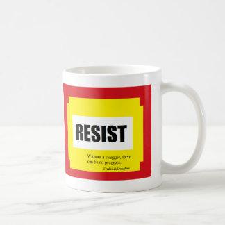 Caneca De Café Resista, umas citações de Frederick Douglas
