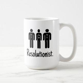 Caneca De Café Resolutionist engraçado