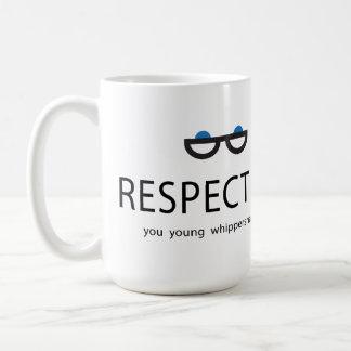 Caneca De Café Respeite-me você whippersnappers novos