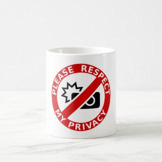 Caneca De Café Respeite por favor minha privacidade