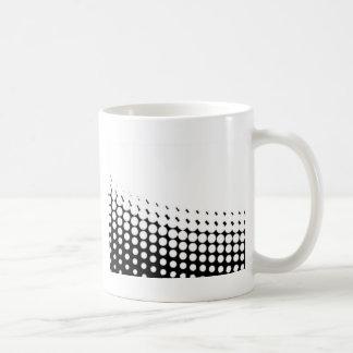 Caneca De Café Reticulação diagonal de B e de W