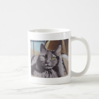 Caneca De Café Retrato cinzento do animal de estimação do gato