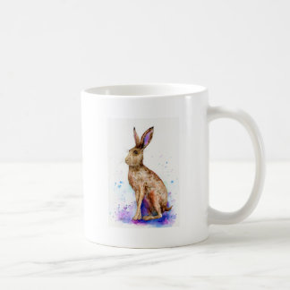 Caneca De Café Retrato da lebre da aguarela