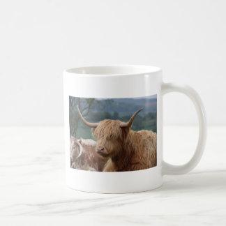 Caneca De Café retrato do gado das montanhas